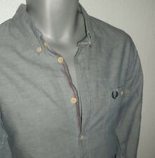 MENS SIZE MEDIUM SHIRT FROM FRED PERRY /VGC/LONG SLEEVE /ONE CHEST POCKET