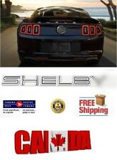 NAMEPLATE TRUNK LID BLACK EMBLEM LETTERS FOR MUSTANG 2005-2009 SHELBY GT500