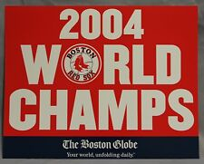 2004 World Series Red Sox Boston Globe Newspaper Machine Poster Sign Card Rare