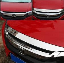 For 2016 HONDA CIVIC Chrome Front Hood Bonnet Grill Lip Molding Cover Trim