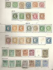 French Colonies collection of 42 CLASSIC stamps  HUGH Value!