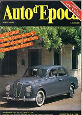 09/91 AUTO D'EPOCA LANCIA APPIA NIBBIO COLIBRI DA RECORD COPPA GORDON BENNETT