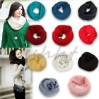 Men/Women Long Scarf  Winter Warm Infinity Circle Cable Knit Cowl Neck Shawl