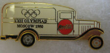 Moscow 1980 Olympic Sponsor Pin - Coca Cola White Truck With Spinning Wheels