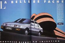 PUBLICITÉ DE PRESSE 1988 FORD SIERRA 2.0 INJECTION - ADVERTISING