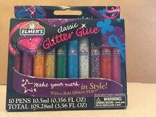 Glitter Glue Pens Painting Artwork POP Supplies 10 Colored Kids Craft Activities
