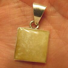 Natural  WHITE  STONE  925 Sterling Silver Pendant   ((248))
