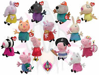 "NEW TY BEANIE BABIES PEPPA PIG AND FRIENDS PLUSH 6"" SOFT TOY BRAND NEW WITH TAGS"