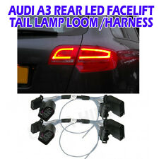 Audi A3 8P sport back facelift LED rear light adapter harness loom tail lamps