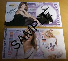 EMMA WATSON 1 MILLION EURO BANK NOTE MILLIONAIRE BANKNOTE HARRY POTTER