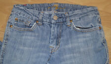 7 SEVEN FOR ALL MANKIND WOMENS DENIM A POCKET LOW RISE STRETCH JEANS 25 X 32