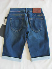 True Religion Savannah Cuffed Bermuda Shorts- Ocean Madness- Size 25- NWT $178