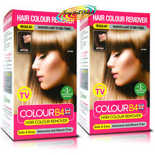 2x Colour B4 ColourB4 Unisex Hair Colour Remover REGULAR Remove Dye Bleach Free