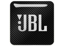 "JBL Black 1""x1"" Chrome Domed Case Badge / Sticker Logo"