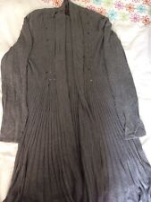 TSEGA LONG GREY CARDIGAN WITH SEQUINS, WORN TWICE, SIZE S/M
