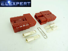 ANDERSON PLUG_50 AMP_BATTERY CONNECTOR_JUMP START _SLAVE ASSIST_PAIR_RED