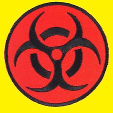 Biohazard Red Resident Symbol Evil Danger Warning Radiation Iron on Patch