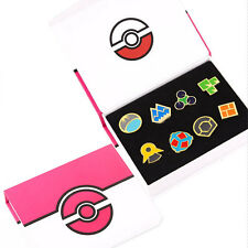 8Pcs Cosplay POKEMON Sinnoh Leagu Gym Badges Indigo League Kanto Badge Pin