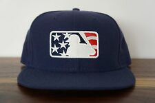 MLB Umpire New Era Hat/Cap 7 3/8 American National League Fitted Stars & Stripes