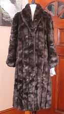 NWT Olympia Faux Fur Long Pelted MInk Coat Made in USA Small