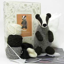 BADGER Amigurumi Crochet & Needle Felting Kit by Hawthorn Handmade