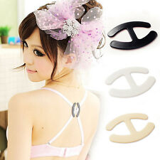 6X Women Webbing Bra Buckles Shadow-Shaped Buckle Bra Clip Strap Holders TVY