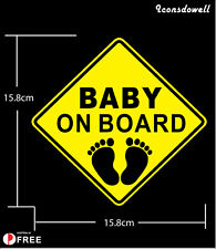 Baby On Board Car Sticker Reflective Warning Decal Stickers Best Present Gift