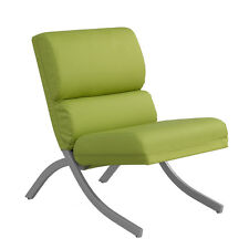 Rialto Lime Green Bonded Leather Chair Century Lounge Mid New Room Side Style