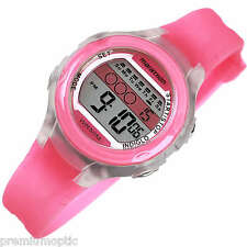 TIMEX ladies mid size INDIGLO MARATHON Multi Function Sports Watch PINK T5K425