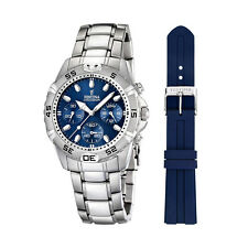 Festina F16635/3 Men's Chronograph Blue Dial Stainless Steel Quartz Watch
