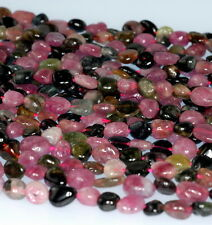 TOURMALINE GEMSTONE PEBBLE CHIPS 7X5MM-5X4MM LOOSE BEADS 16""