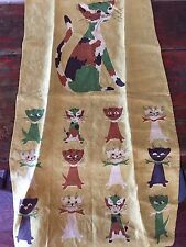 Vintage Tammis Keefe Kitchen Towel with CATS Fallani and Cohn 100% Linen