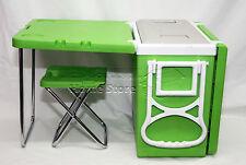 28 terdecies multi function pique-nique refroidisseur de roulement avec table & 2 tabourets de camping outdoor g