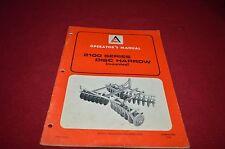 Allis Chalmers 2100 Series Disc Harrow Operator's Manual DCPA6 ver