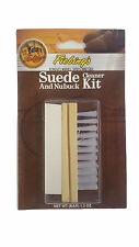 Fiebings Suede & Nubuck Cleaner Kit Block Brush Eraser Bar New!