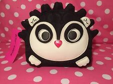 Betsey Johnson Hedgehog Cosmetic Makeup Bag Case Black Multi BM18710 NWT $48