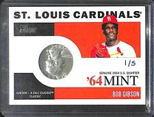 2013 Topps Heritage 64 Mint #64M-BG Bob Gibson No 1 of 5