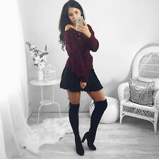 New Women Winter Casual Long Sleeve Hoodie Jumper Sweatshirt Pullover Tops Shirt