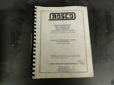ROSCO RB48 Hydrasweep Self-Propelled Road Sweeper Service Maintenance Manual
