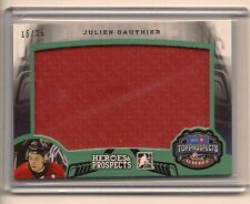 JULIEN GAUTHIER 2015-16 LEAF ITG HEROES & PROSPECTS GAME USED JERSEY /25