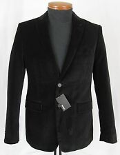 Men's MURANO Black Cotton Velvet Jacket Blazer Medium M NWT NEW