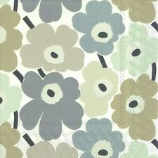Marimekko MINI UNIKOT linen floral luxury napkins paper napkins new 20 pack