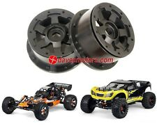 PRO-LINE DESPERADO 5B/5T FRONT WHEELS (BLACK w/BLACK BEADLOCKS) FOR HPI BAJA 5B