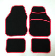 Black & Red Car Mats For MG TF ZR ZS ZT MGB MGF