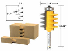 """Reversible Finger Joint Glue Joint Router Bit - 1/4"""" Shank - Yonico 15131q"""