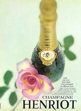 PUBLICITE ADVERTISING 114  1966  HENRIOT   champagne