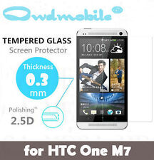 Premium Quality HTC One M7 Tempered Glass Screen Protector 2.5D
