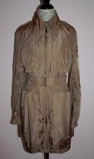 Rare Womens ADD Down Camel Brown Taupe Jacket Trench Coat Size 48 / US 10