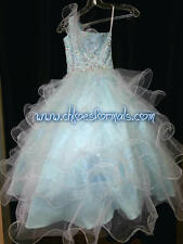 GIRL'S PAGEANT DRESS * SIZE 2 * ICE BLUE * SUGAR * 82209S * FROZEN