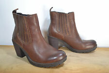 B.O.C. /BORN Concepts Brown Leather Ankle Boots, Size 7 / 38